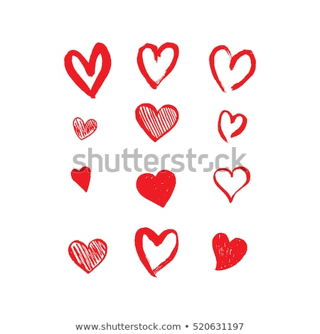 Stock photo: Set of heart shaped icons.