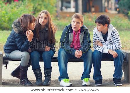 смеясь · молодые · пару · трава · семьи · стороны - Сток-фото © Paha_L
