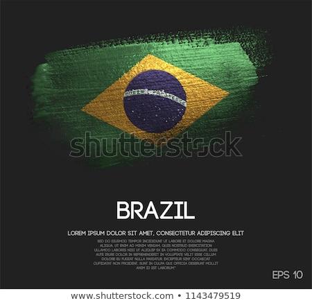 Brazília vidék zászló térkép forma szöveg Stock fotó © tony4urban