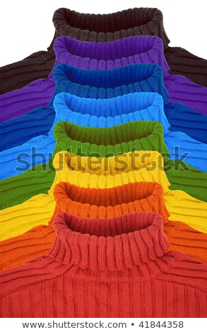 pyramid of multi color rainbow sweaters collage stock photo © Paha_L