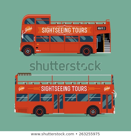 Transport Vehicle Red Vector Icon Design Stock photo © rizwanali3d
