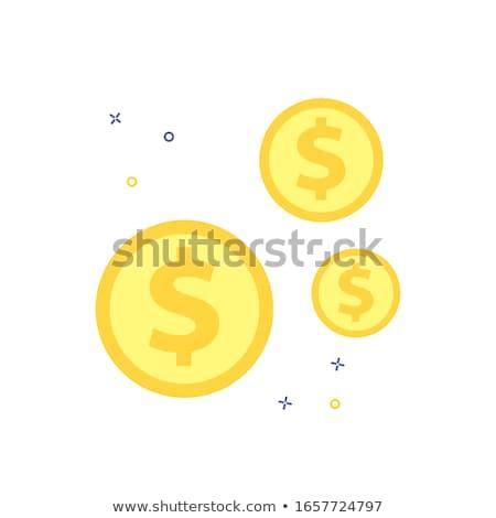Cifrão amarelo vetor ícone projeto financiar Foto stock © rizwanali3d