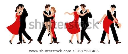 Tango dançarinos ilustração homem sensual moda Foto stock © bokica
