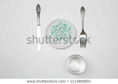различный · ножом · продовольствие · здоровья · листьев · цвета - Сток-фото © caimacanul
