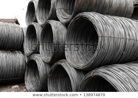 Ijzer draden haven achtergrond metaal fabriek Stockfoto © papa1266