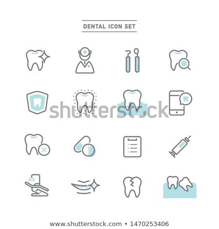 dental · símbolo · coleção · limpar · brilhante · projetos - foto stock © netkov1