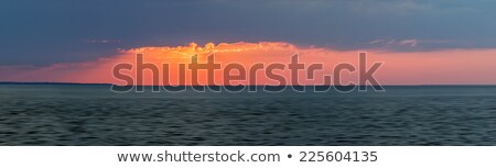 sunset panorama over atlantic ocean stock photo © elenaphoto