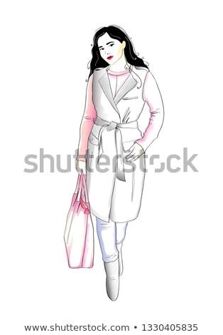 acquerello · moda · illustrazione · ragazza - foto d'archivio © gigi_linquiet