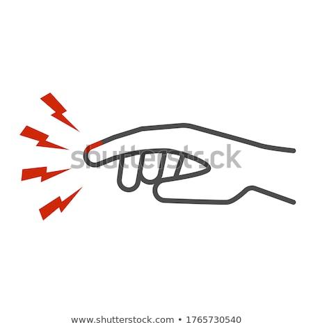 Herido palma línea icono web móviles Foto stock © RAStudio