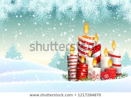 dourado · alegre · natal · estrelas · vermelho · bokeh - foto stock © beholdereye