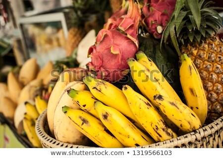 Tropische vruchten asian markt vruchten winkel tropische Stockfoto © smithore