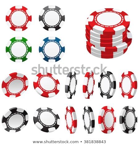 фишки · для · покера · казино · рулетка · весело · черный - Сток-фото © winner