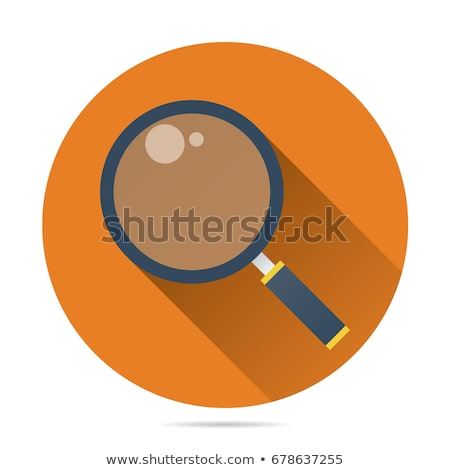 Magnifying glass icon , Flat design style, vector illustration.  stock photo © jabkitticha
