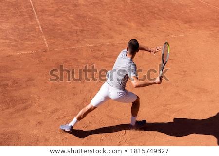 Tennis game on clay court stock photo © jordanrusev