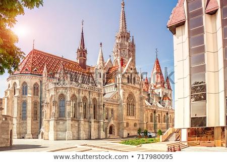 Buda Palace Matthias Church Budapest Hungary Stock photo © billperry