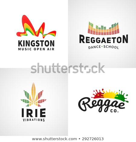 Cannabis leaf symbol jamaican flag background stock photo © Zuzuan