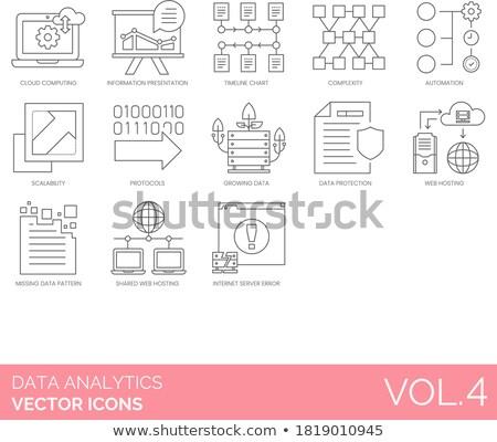 vetor · gráfico · abstrato · infográficos · mapa · ícones - foto stock © blamb