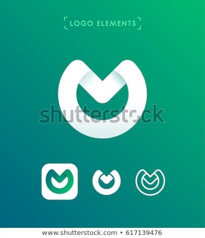 kleurrijk · abstract · logo · letter · m · business · brief - stockfoto © cidepix