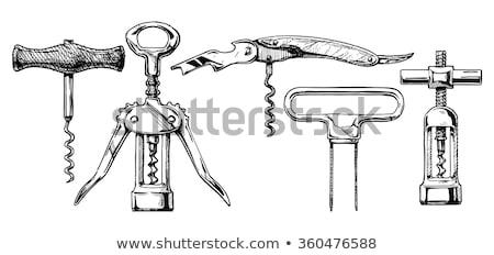 ヴィンテージ コークスクリュー 鉄 金属 アンティーク ストックフォト © Digifoodstock
