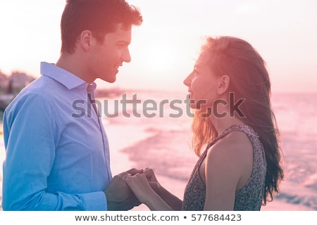 silhueta · família · ao · ar · livre · praia · pôr · do · sol · família · feliz - foto stock © deandrobot