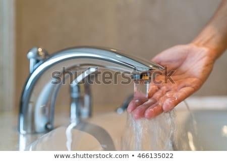 Closeup Of Water In Hot Bath Tubs Stock photo © pixinoo