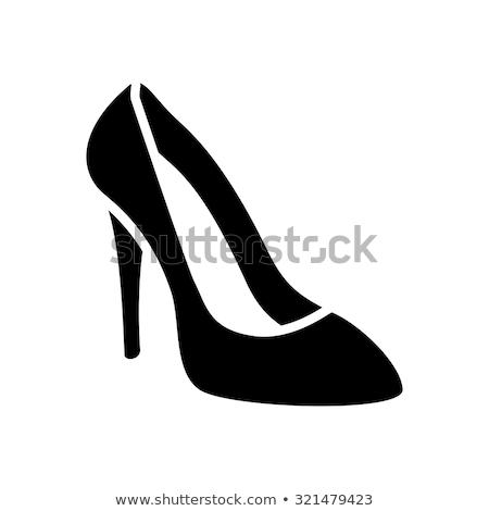 セクシー · ハイヒール · 靴 · アイコン · グレー · 女性 - ストックフォト © nickylarson974