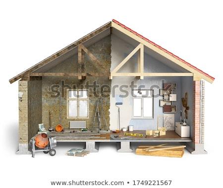 parafuso · poder · três · de · um · tipo · branco · edifício · construção - foto stock © simply