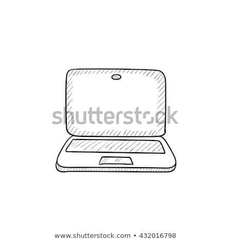 website on laptop screen sketch icon stock photo © rastudio