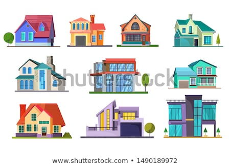 Neighborhood with different styles of houses Stock photo © bluering