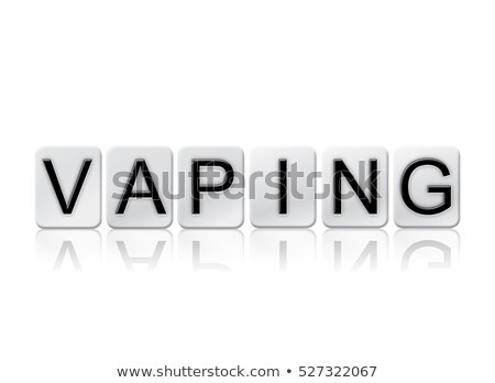 vaping isolated tiled letters concept and theme stock photo © enterlinedesign