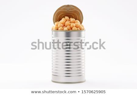 Gomba alumínium konzerv illusztráció egészség háttér Stock fotó © bluering