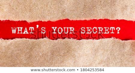 Stock fotó: What Is Your Secret Torn Paper Concept