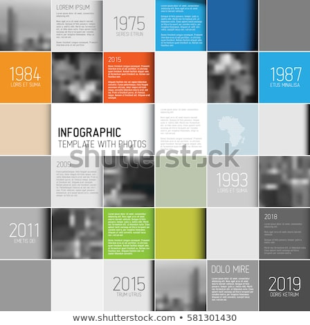 Mosaic infographic template with photos Stock photo © orson