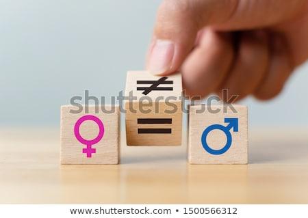 egyenlő · illetmény · nem · bér · hézag · szimbólum - stock fotó © nito