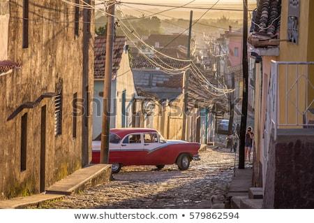 renkli · sokak · kasaba · Bina · renk - stok fotoğraf © julianpetersphotos