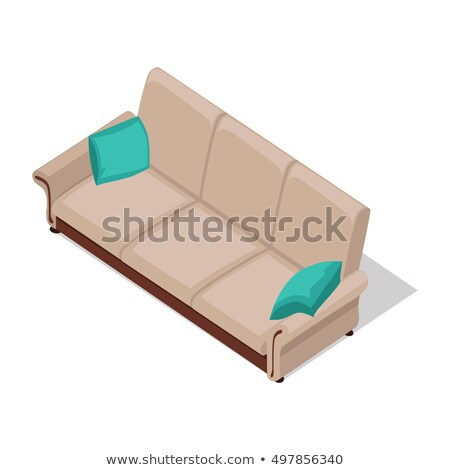 Bege sofá ilustração isométrica projeção Foto stock © robuart