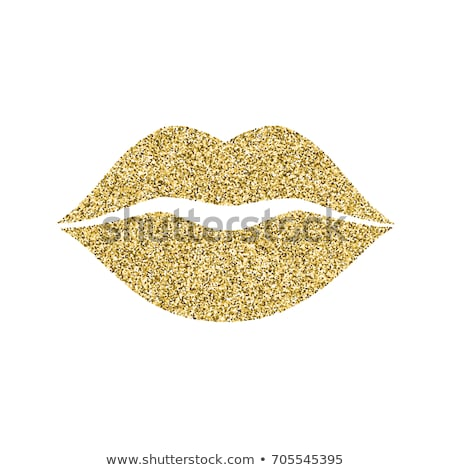 Gold Kissing Lips Stock photo © solarseven