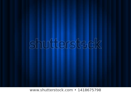blue stage background with closed curtains Stock photo © SArts