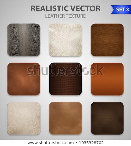 Set of grey leather samples Stock photo © homydesign