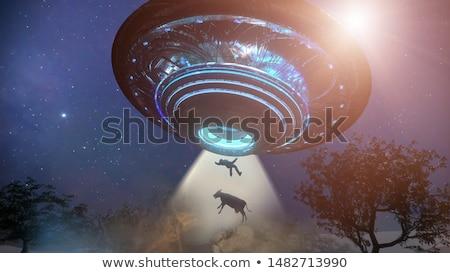 飛行 · ソーサー · 実例 · 船 · UFOの · 奇妙な - ストックフォト © idesign