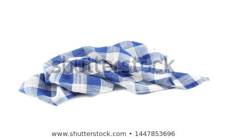 Blauw · witte · weefsel · textuur · abstract - stockfoto © digifoodstock