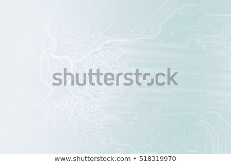 close up of electronic circuit board blue toned stock photo © pashabo