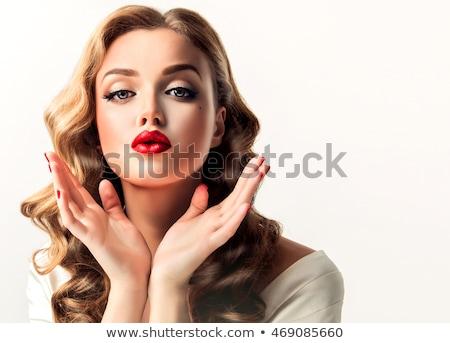 moda · mulheres · foto · backlight · flor - foto stock © fisher
