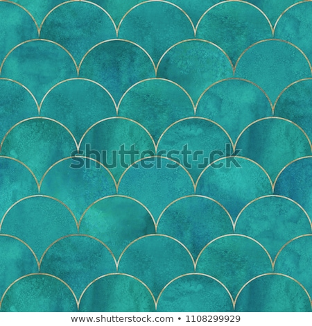 Abstract fish scale pattern in oriental style. Stock photo © yopixart