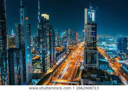 Amazing view of city at the night Stock photo © konradbak