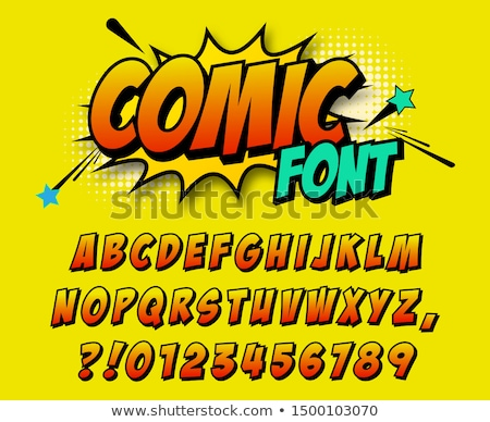 Cartoon Comic Font. Alphabet in style of comics. Stock photo © tkacchuk