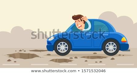 pothole Stock photo © psychoshadow