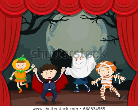 Ghosts and mummy on stage play Stock photo © bluering