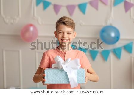 мальчика подарок фотография небольшой большой Сток-фото © shai_halud