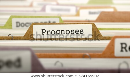 Foto stock: Prognoses Concept Folders In Catalog